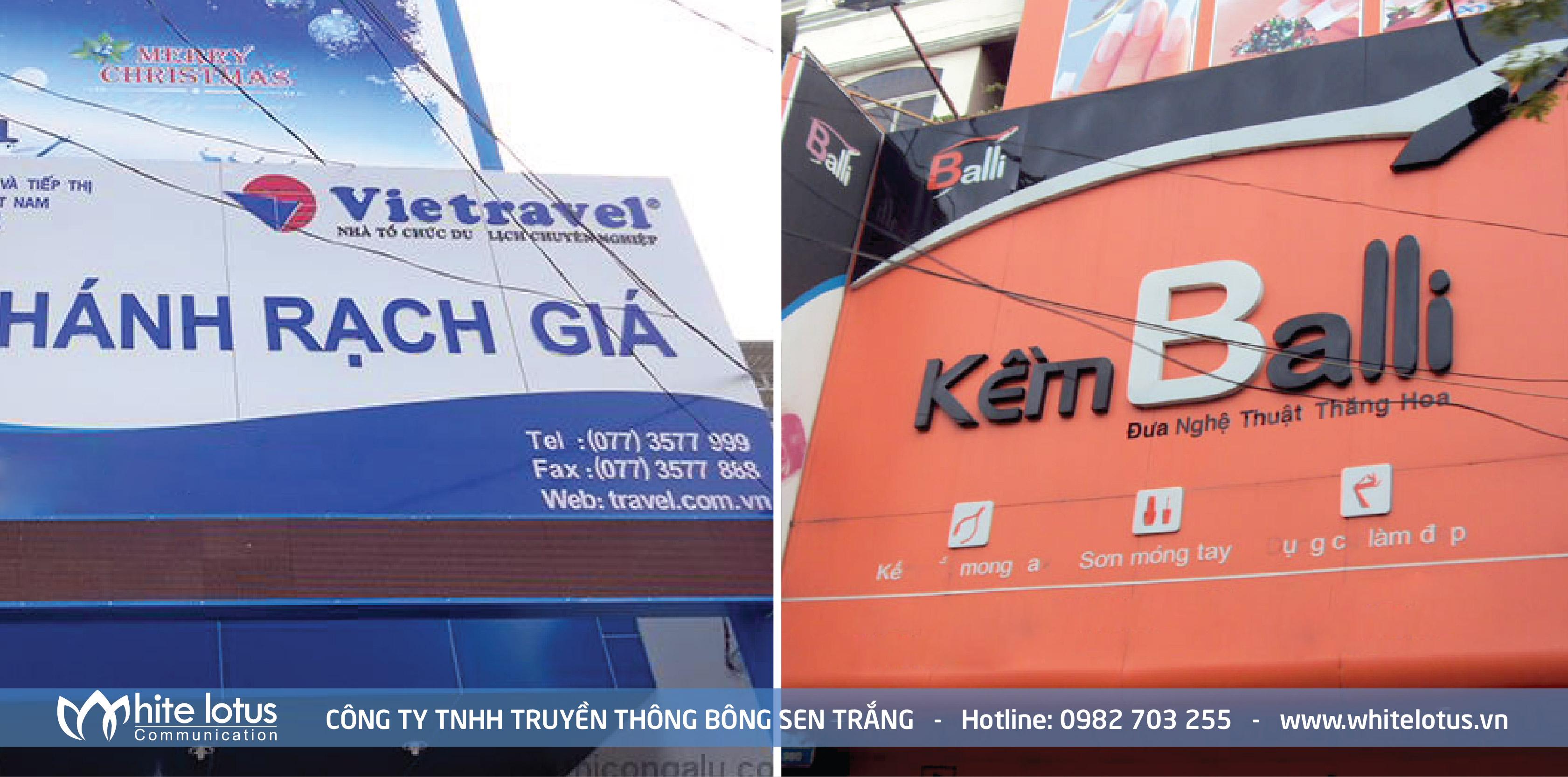 Với sự đa dạng của vật liệu thi công bảng hiệu quảng cáo như hiện nay, Quý Khách sẽ có nhiều sự lựa chọn hơn cho ngành nghề kinh doanh của minh, ...